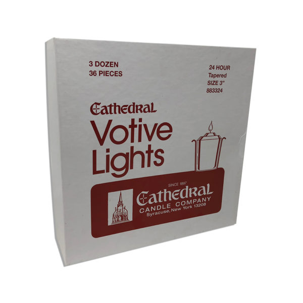 24 Hour Tapered Votive Light Candles Box