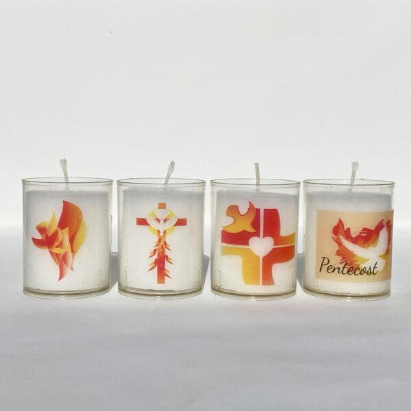 24hr Pentecost Votive Light Candles