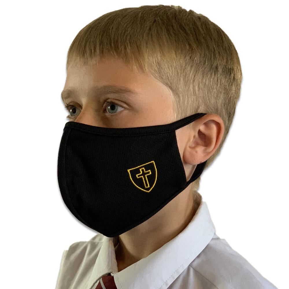 Children's Black Triple Layered Face Mask