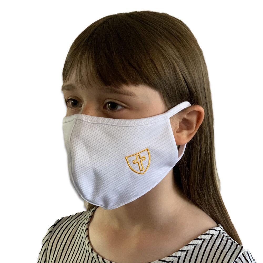 Children's White Triple Layered Face Mask